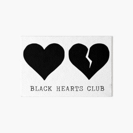 club de corazones negros yungblud Lámina rígida