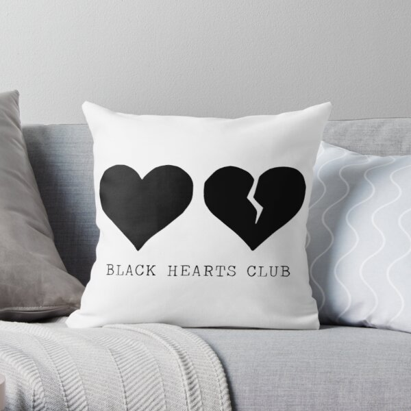 yungblud black hearts club Throw Pillow
