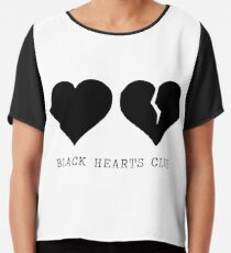 Yungblud schwarzer Herzklub Chiffontop