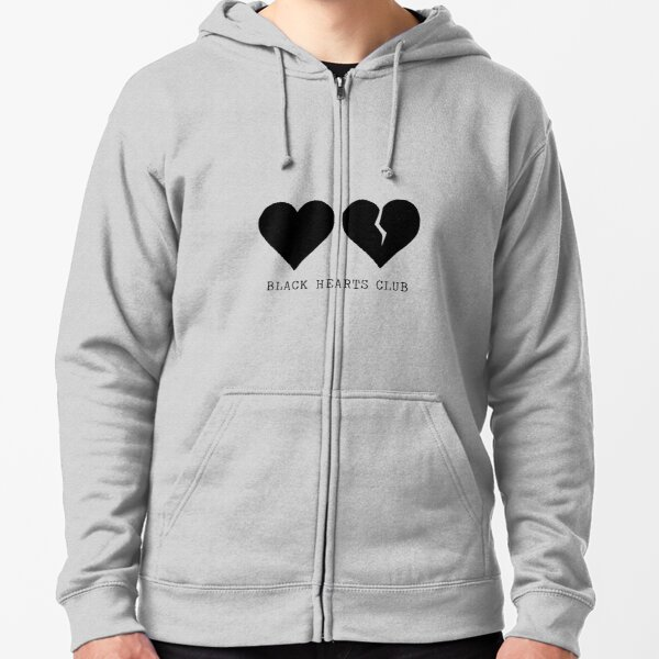 yungblud black hearts club Zipped Hoodie