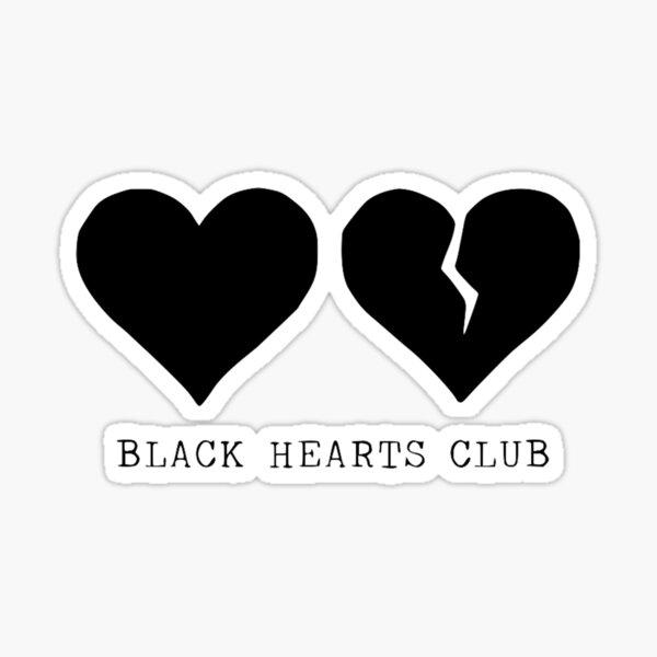 club de coeurs noirs yungblud Sticker