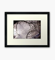 Down. Framed Print