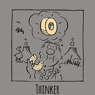 Thinker - not based on Rodin at all... by RobertDuncan