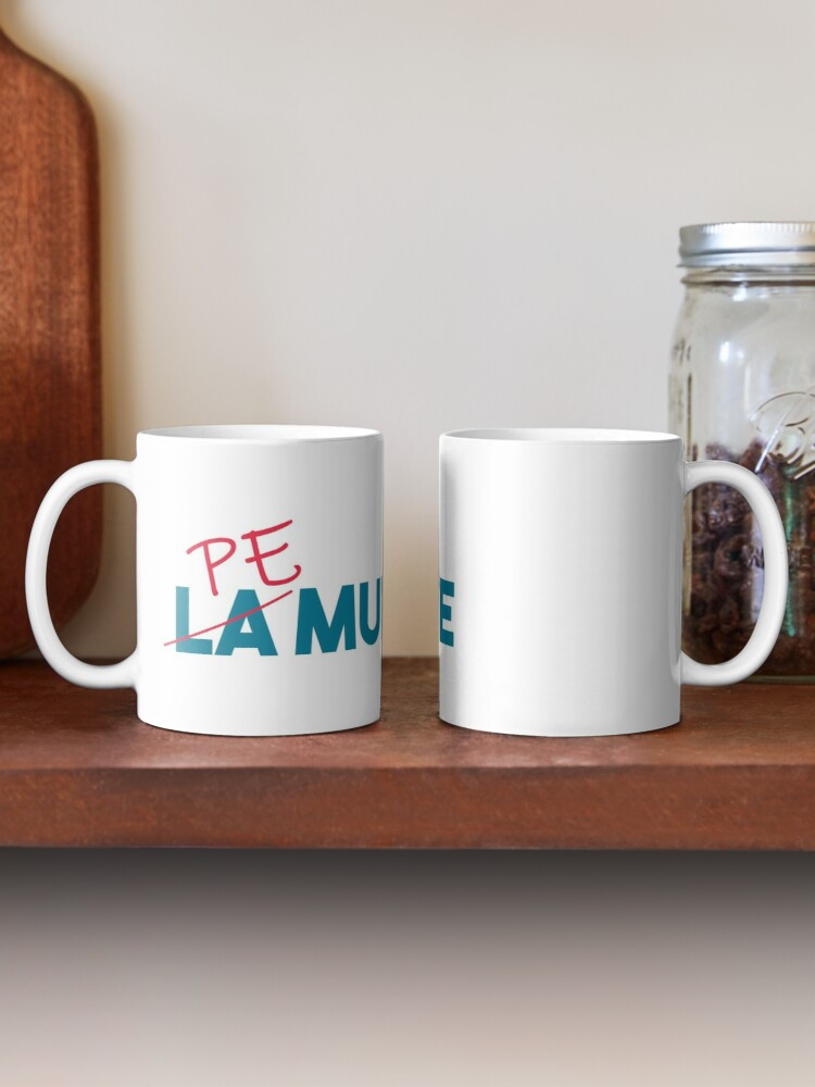"Alternate view of ""Pe munte"", nu ""la munte"" Mug"
