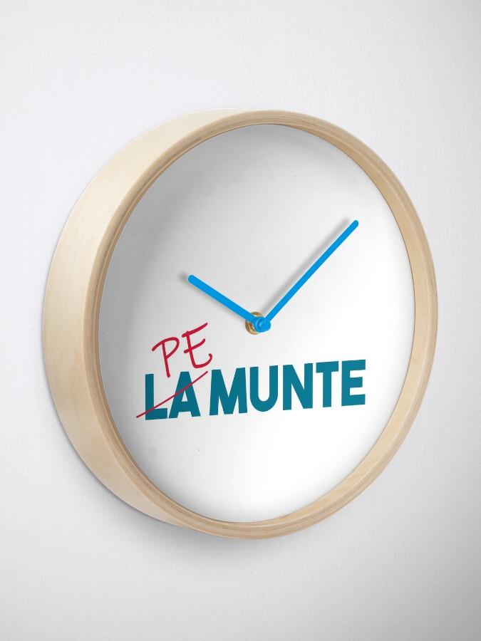 """Alternate view of """"Pe munte"""", nu """"la munte"""" Clock"""
