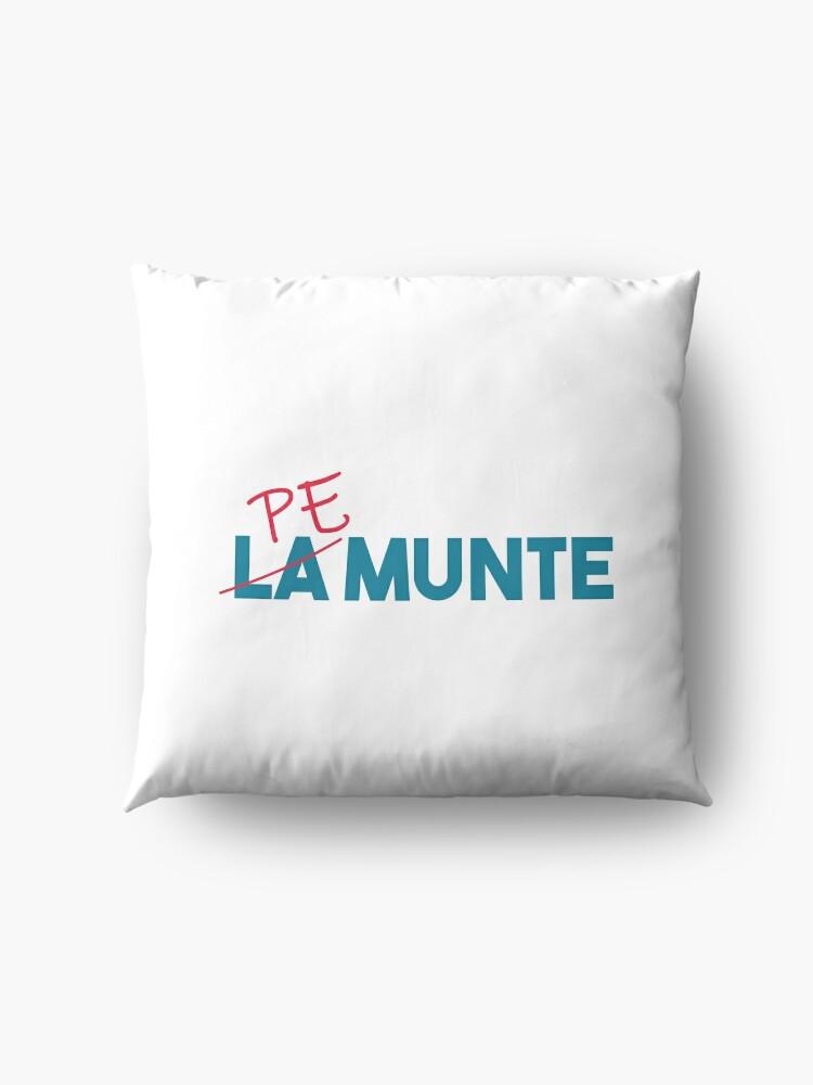 """Alternate view of """"Pe munte"""", nu """"la munte"""" Floor Pillow"""