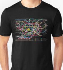 Tokyo Subway System Map Slim Fit T-Shirt