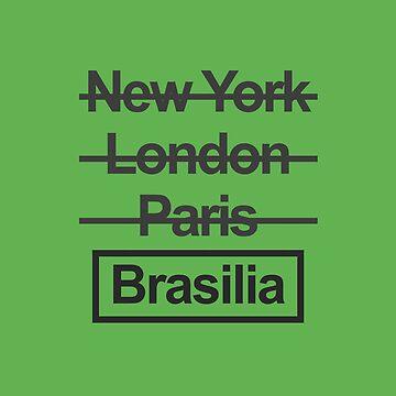 Brazil Brasilia City Text design by GetItGiftIt