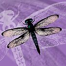 Blue dragonfly vector by Bwiselizzy