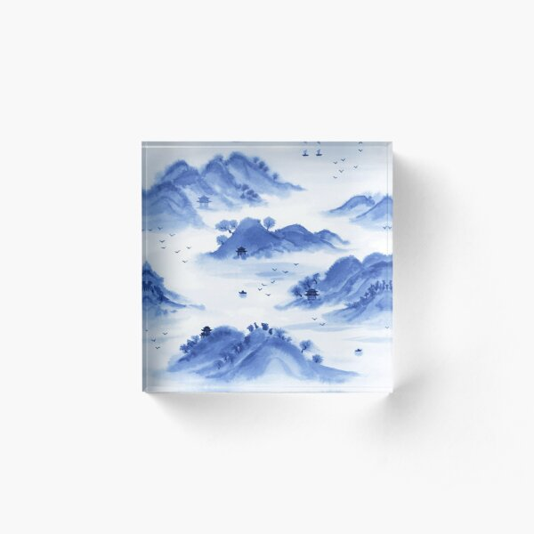 Morning in the Mountains Acrylic Block