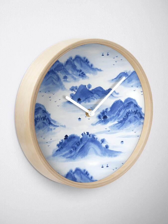 Alternate view of Morning in the Mountains Clock
