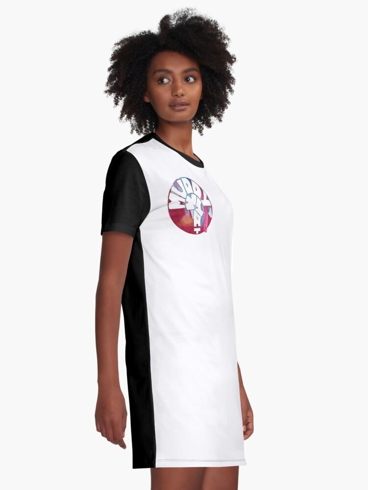 Alternative Ansicht von MUDDY WHAT? Logo Aquarell T-Shirt Kleid