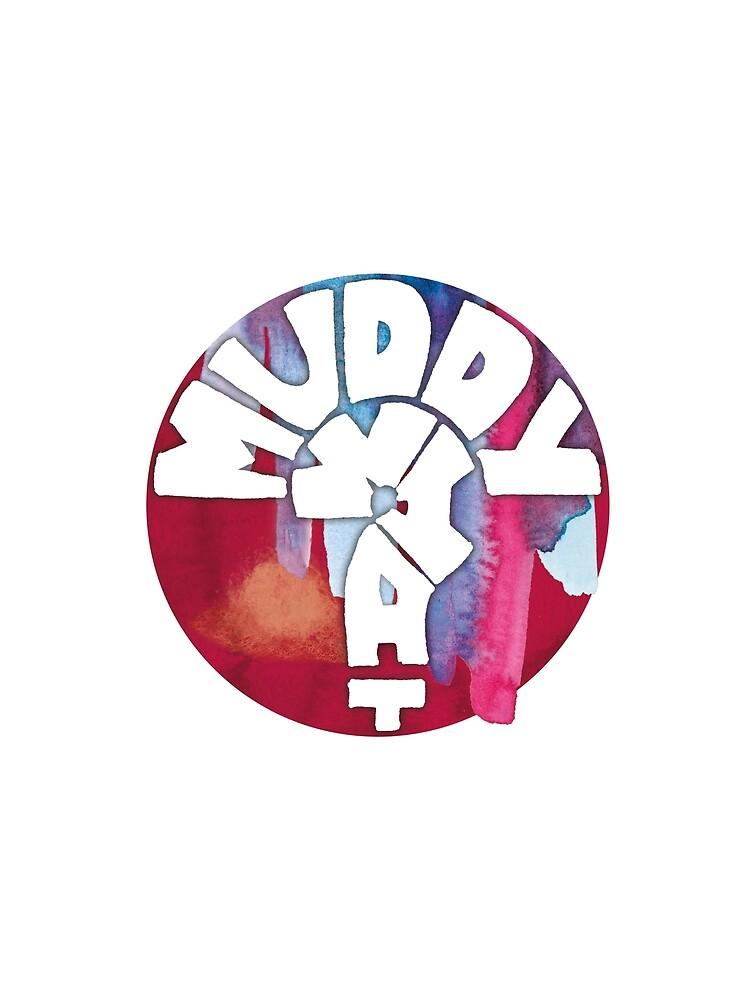 MUDDY WHAT? Logo Aquarell von HowlinWho