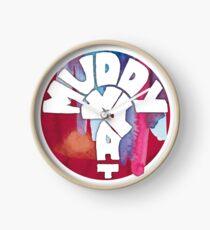 MUDDY WHAT? Logo Aquarell Uhr