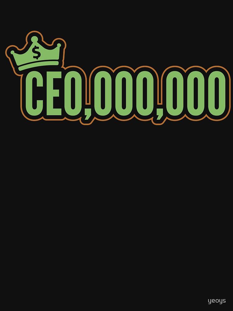 CEO 000 000 - Self Employed Gift von yeoys