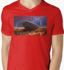 Roswell Lightning Men's V-Neck T-Shirt