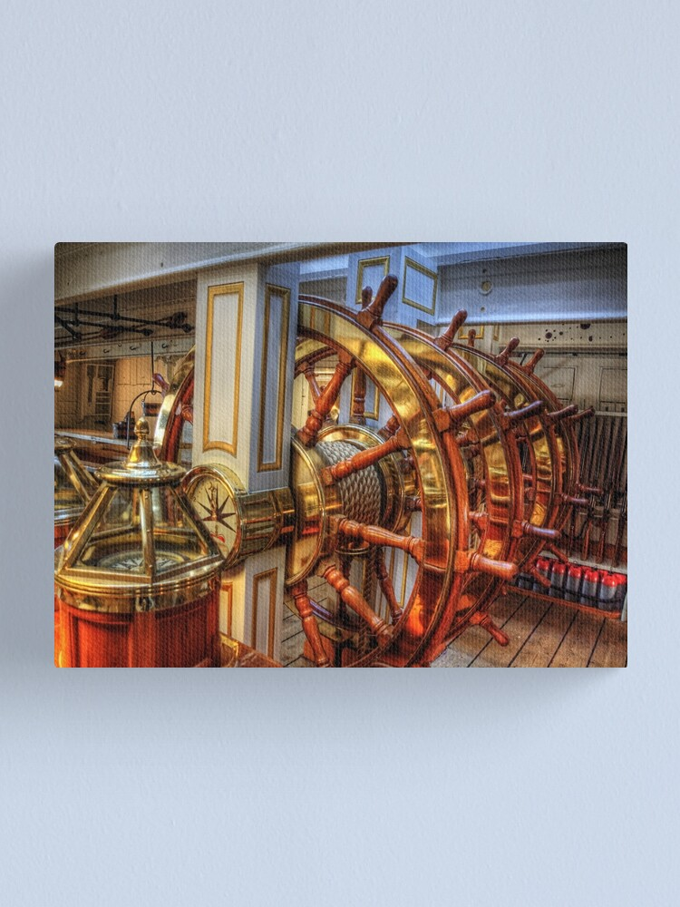 Alternate view of The Helm of the HMS Warrior Canvas Print