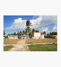 an unbelievable Tuvalu landscape Photographic Print