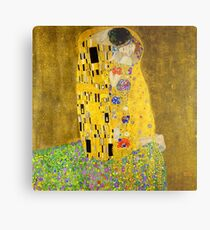 The Kiss - Gustav Klimt Metal Print