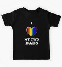 I Love My 2 Dads Kids Tee
