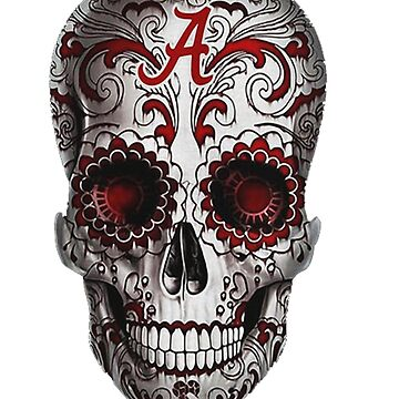 Alabama Crimson Tide flower skull shirt by Caitlin123123