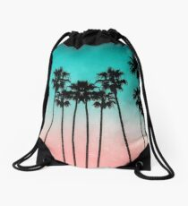 Palm Trees 3 Drawstring Bag