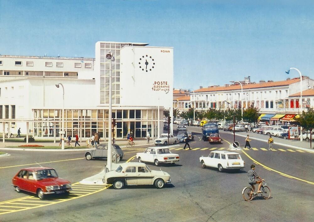 « La poste de Royan dans les années 60 » par Francois Richet