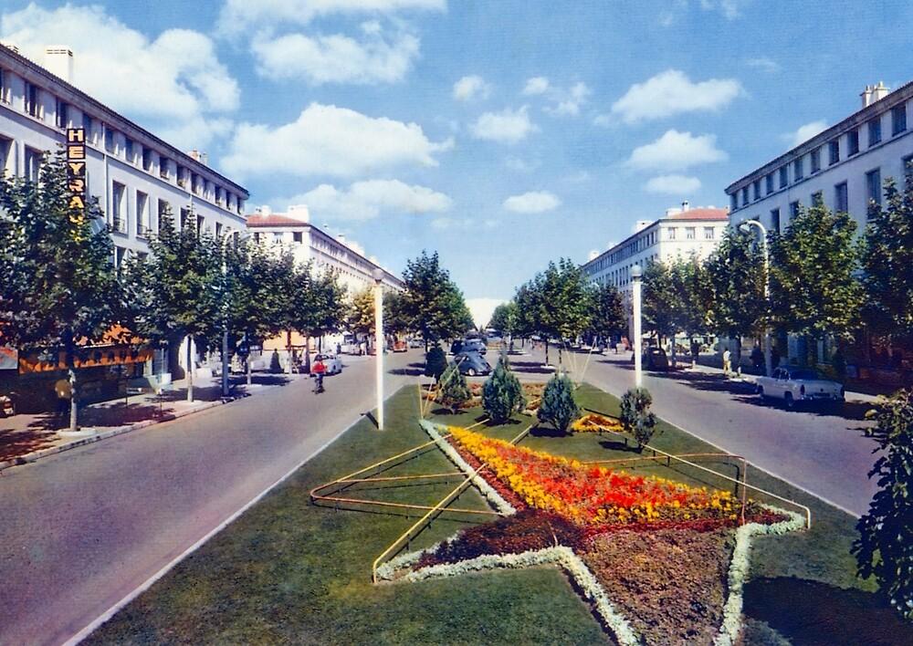 « Le boulevard Briand à Royan dans les années 50 » par Francois Richet