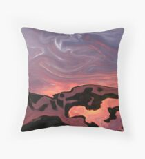 How many Dinasours Do you see Or do you? Throw Pillow