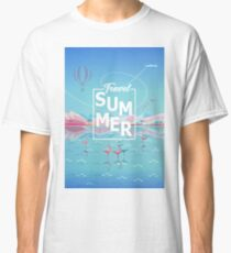 """Holiday Summer Adventure in Nature, Trendy Design """"Magic Travel, Tropical Summer"""" -  Collection Classic T-Shirt"""