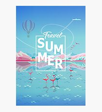 """Holiday Summer Adventure in Nature, Trendy Design """"Magic Travel, Tropical Summer"""" -  Collection Photographic Print"""