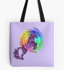 Sparkly Glittery Purple Unicorn And Rainbow Tote Bag