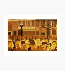 Collins Street, 5pm Live Fast, Die Young Art Print