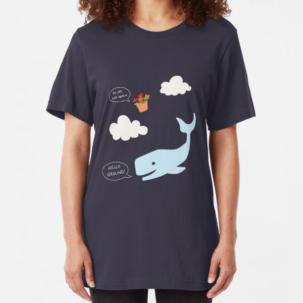 Whale Tail /& Seaweed Simply Southern On Navy Cotton Tee Shirt