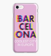 Barcelona Glitch Psychedelic Coolest City in Europe iPhone Case/Skin