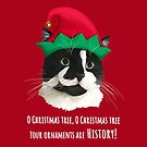 Carolling Christmas Furries – Tuxedo Cat (white text) by RulaVam