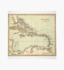 Antique Map of the West Indies Scarf