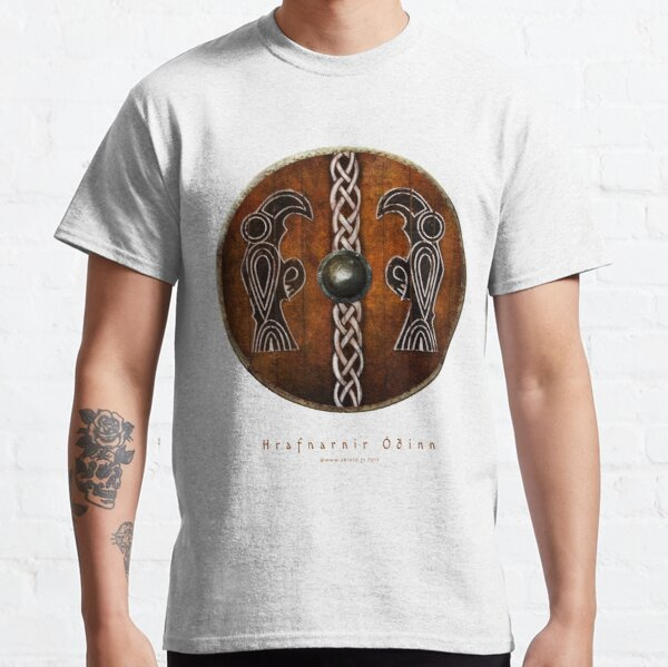 Bouclier Viking Corbeaux d'Odin Huginn & Muninn T-shirt classique
