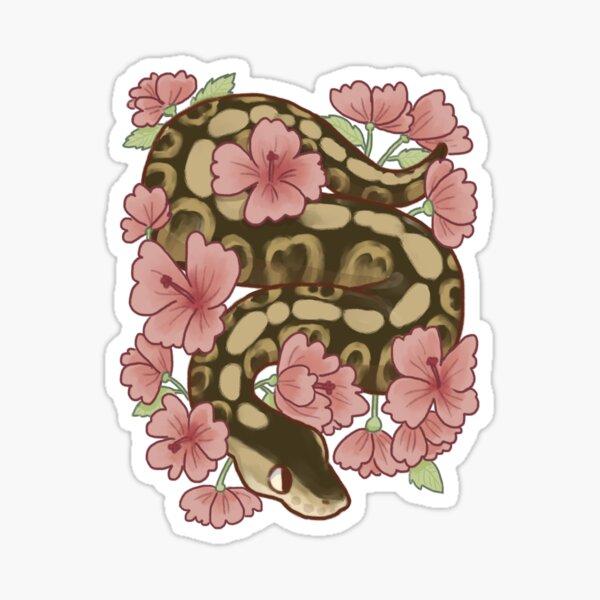 Flower Ball Python! Sticker