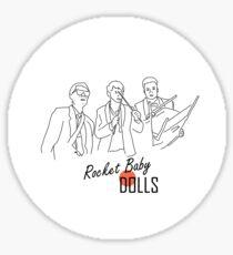 rocket baby dolls Sticker