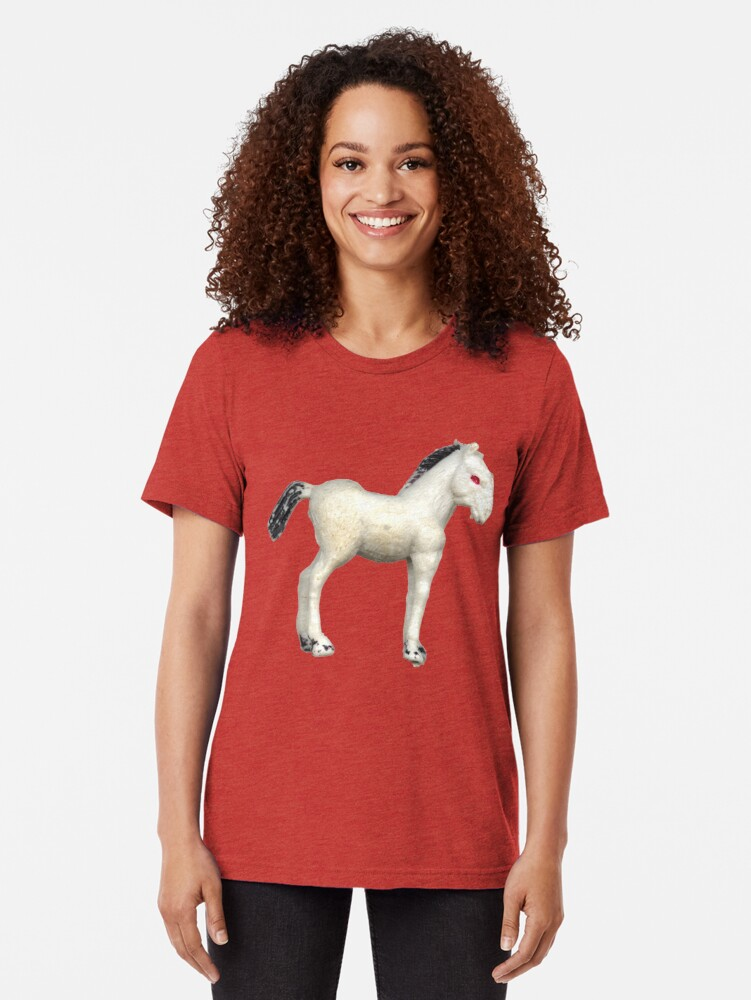 Alternate view of My little foal in a sea of pink Tri-blend T-Shirt