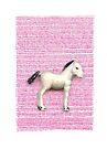 My little foal in a sea of pink by VrijFormaat