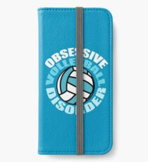Funny Obsessive Volleyball Disorder iPhone Wallet/Case/Skin