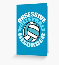 Funny Obsessive Volleyball Disorder Greeting Card