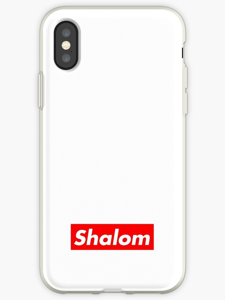 pretty nice 8b8ca 1b679 'Shalom - Supreme Box Logo ' iPhone Case by joejenx