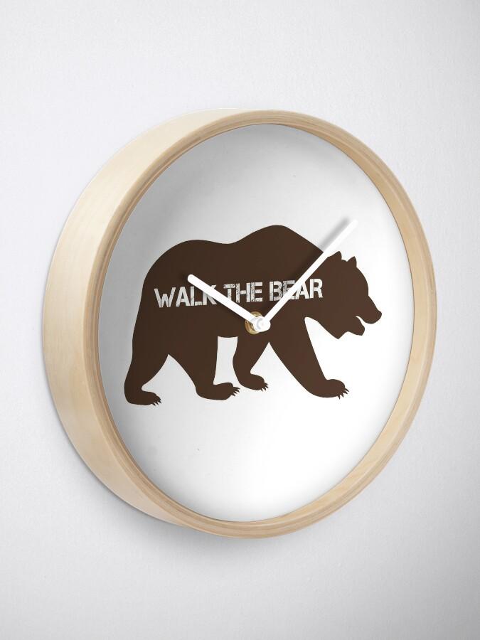 Alternate view of Walk the bear (Plimba ursu') Clock