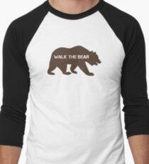 Walk the bear (Plimba ursu') Men's Baseball ¾ T-Shirt
