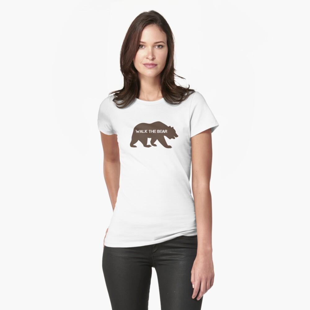 Walk the bear (Plimba ursu') Fitted T-Shirt