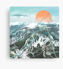 Ski Map Canvas Print
