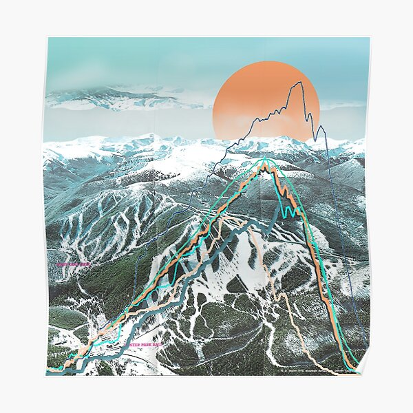 Ski Map Poster